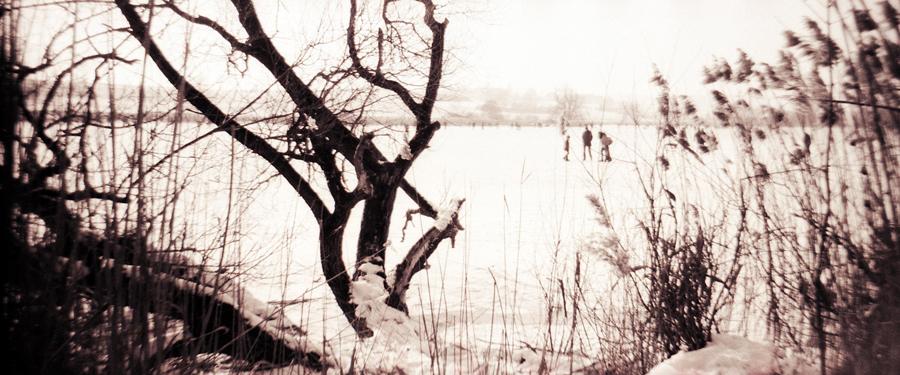 frozen lake - Experimental Photography
