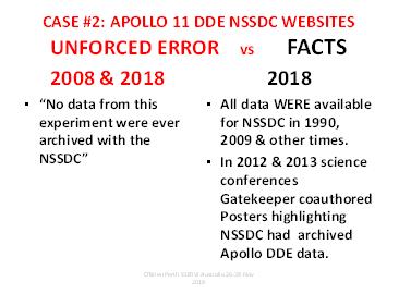 """Case 2 """"Unforced Error vs Facts"""""""