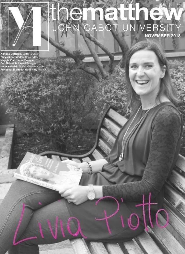November 2018 - Livia Piotto, Reference Librarian, Guarini Campus
