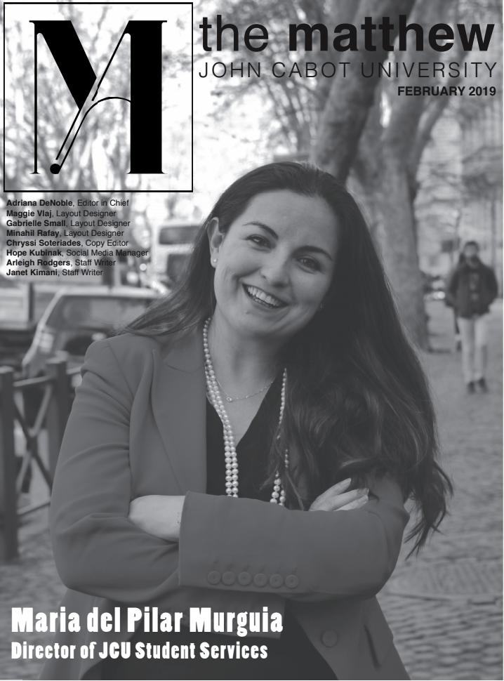 February 2019 - Maria del Pilar Murguia, Director of JCU Student Services