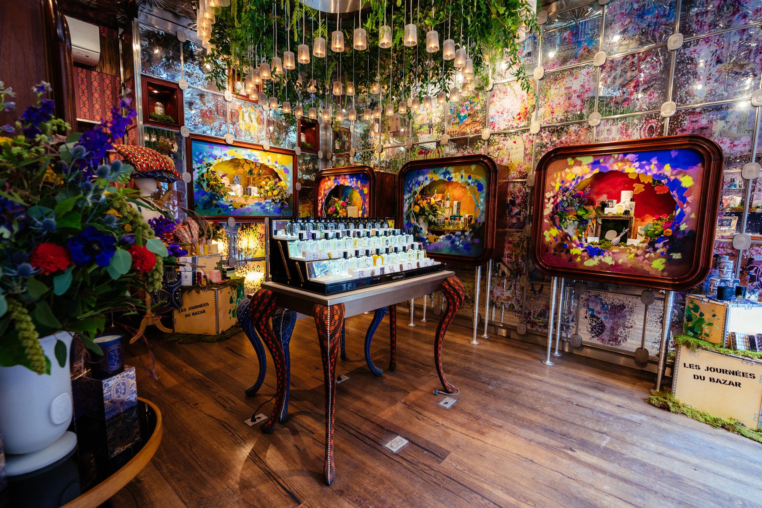 Diptyque 34 Bazaar In-Store Displays