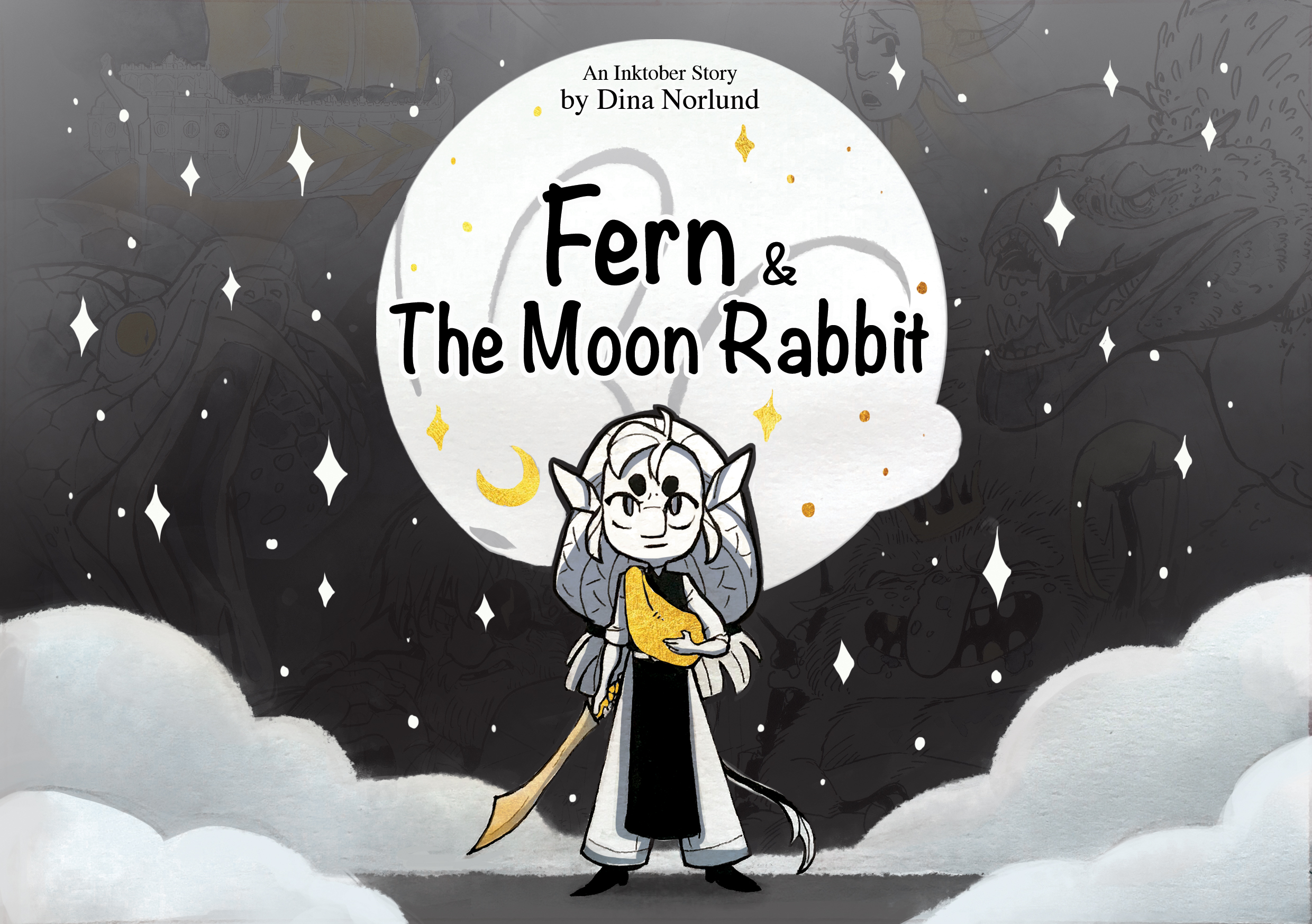 FERN & The moon rabbit - This is a small, unpolished story about a young troll named Fern and her mysterious quest to return the moon to the night sky.