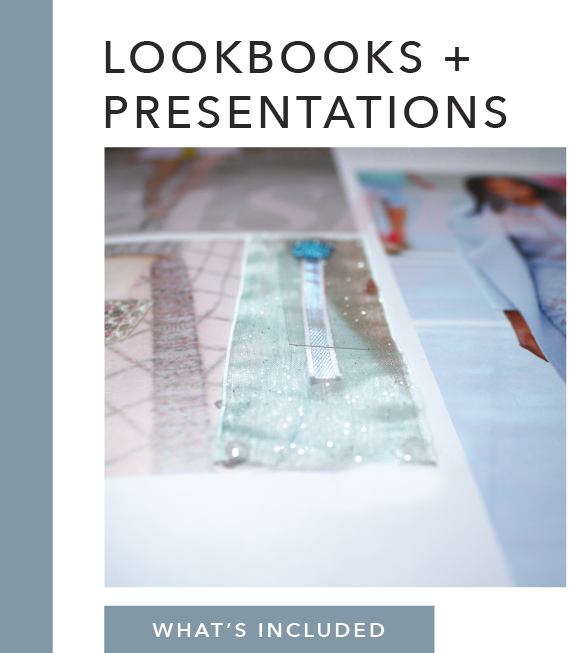What's Included:   Mood Board    (physical mood boards available for additional cost)  Digital Presentation Catalogues Look Books