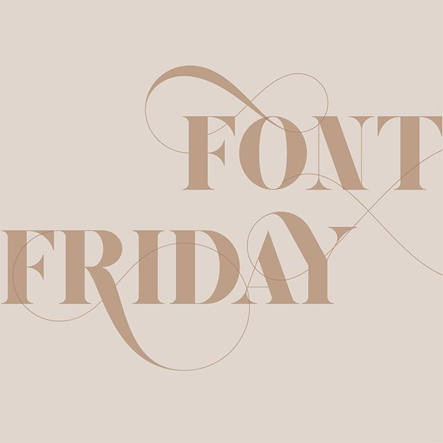 Happy font fri-yay! Gaze Pro is one of our favorites. See more font inspiration in our stories highlights. #fontfriday