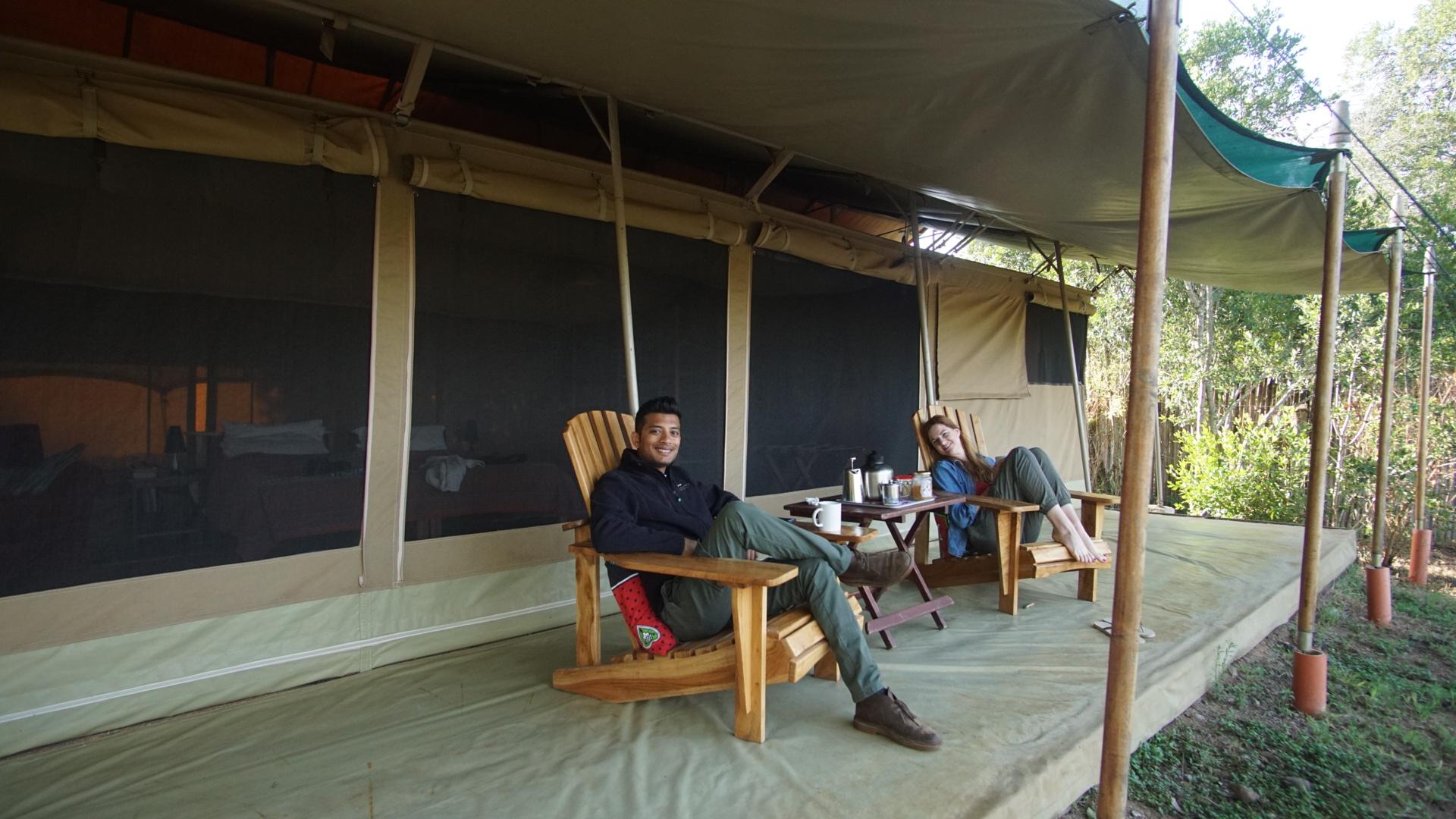 At Alex Hunter's Ol Pejeta Bush Camp, Kenya