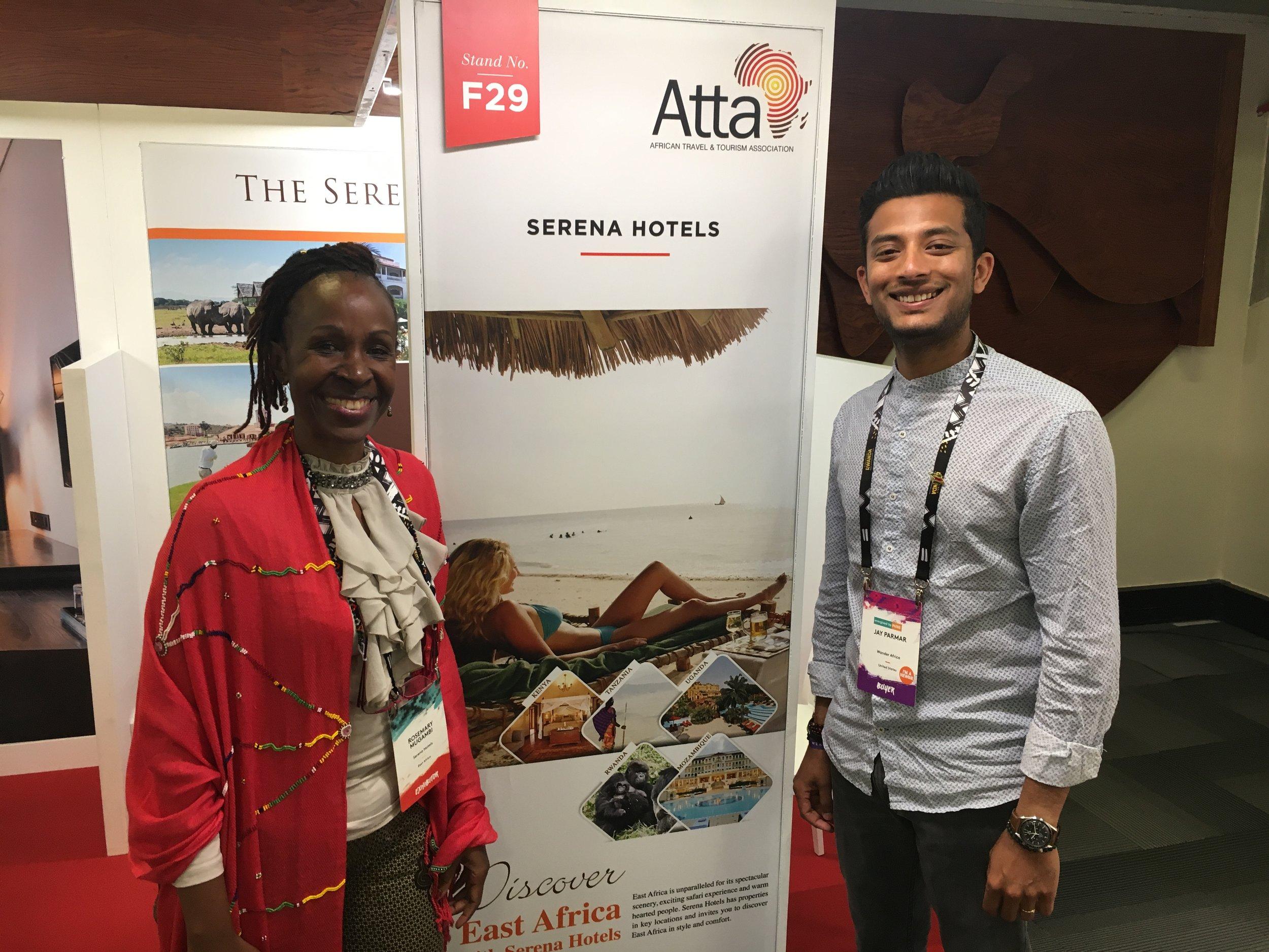 Long time friend Rosemary Mugambi, Regional Sales and Marketing Director of Serena Hotels