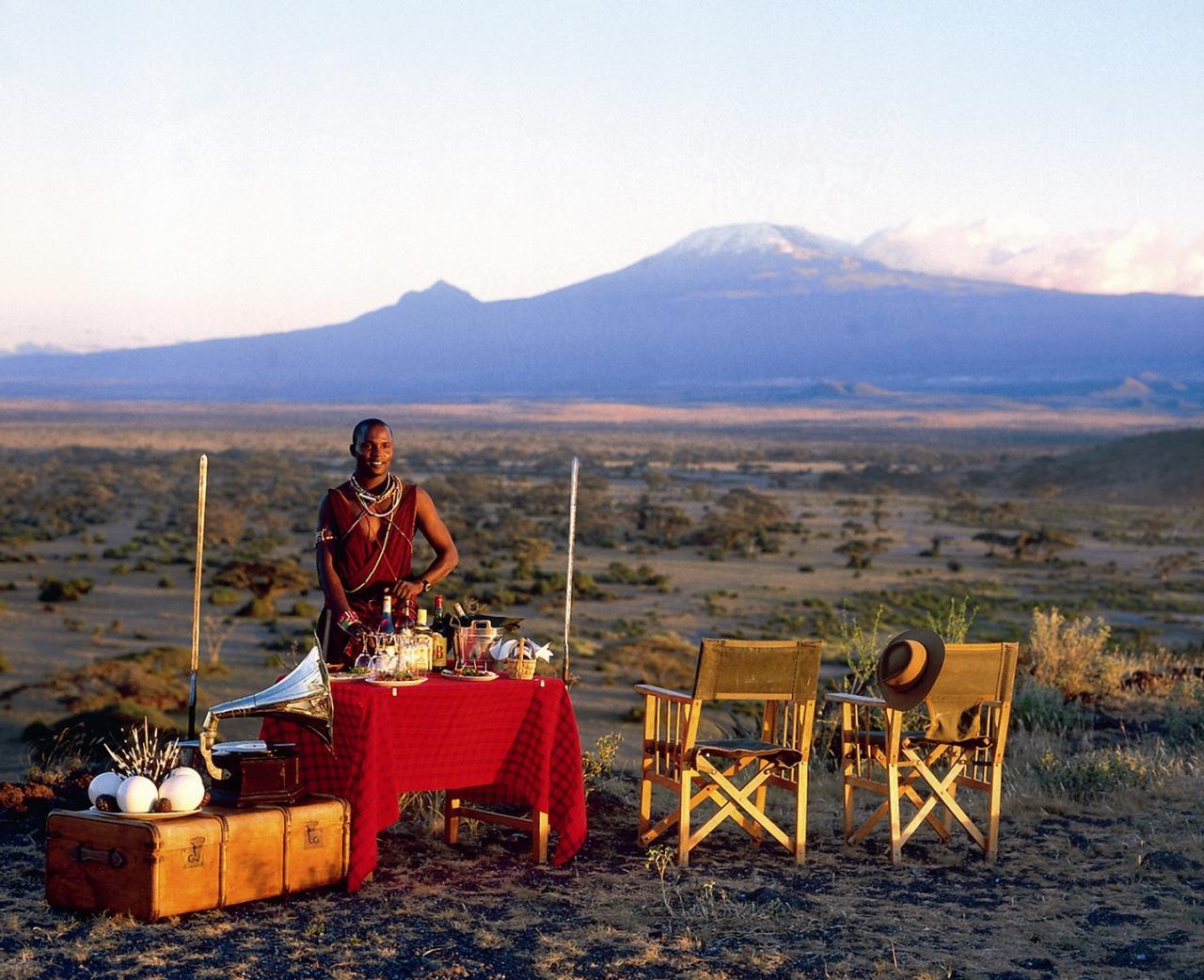 Tortilis Camp - Sundowners in front of Kilimanjaro.jpg