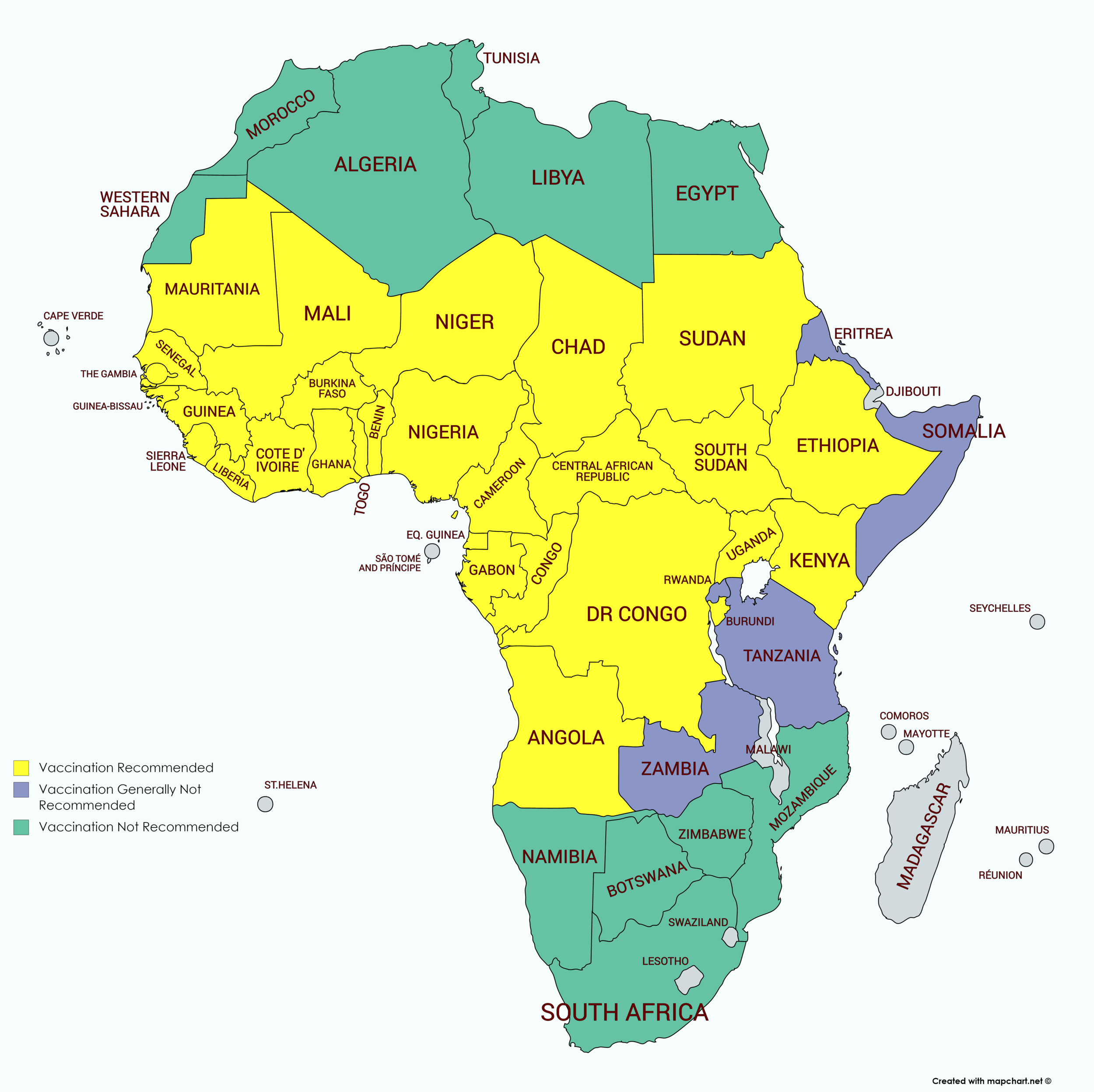 Wander Africa Yellow Belt Yellow Fever Map.png