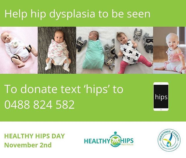 Today is Healthy Hips Day. Time to raise funds for Healthy Hips Australia. Your donations will help  to increase awareness for hip dysplasia, improve early diagnosis rates and support those impacted by the condition. #healthyhipsaustralia
