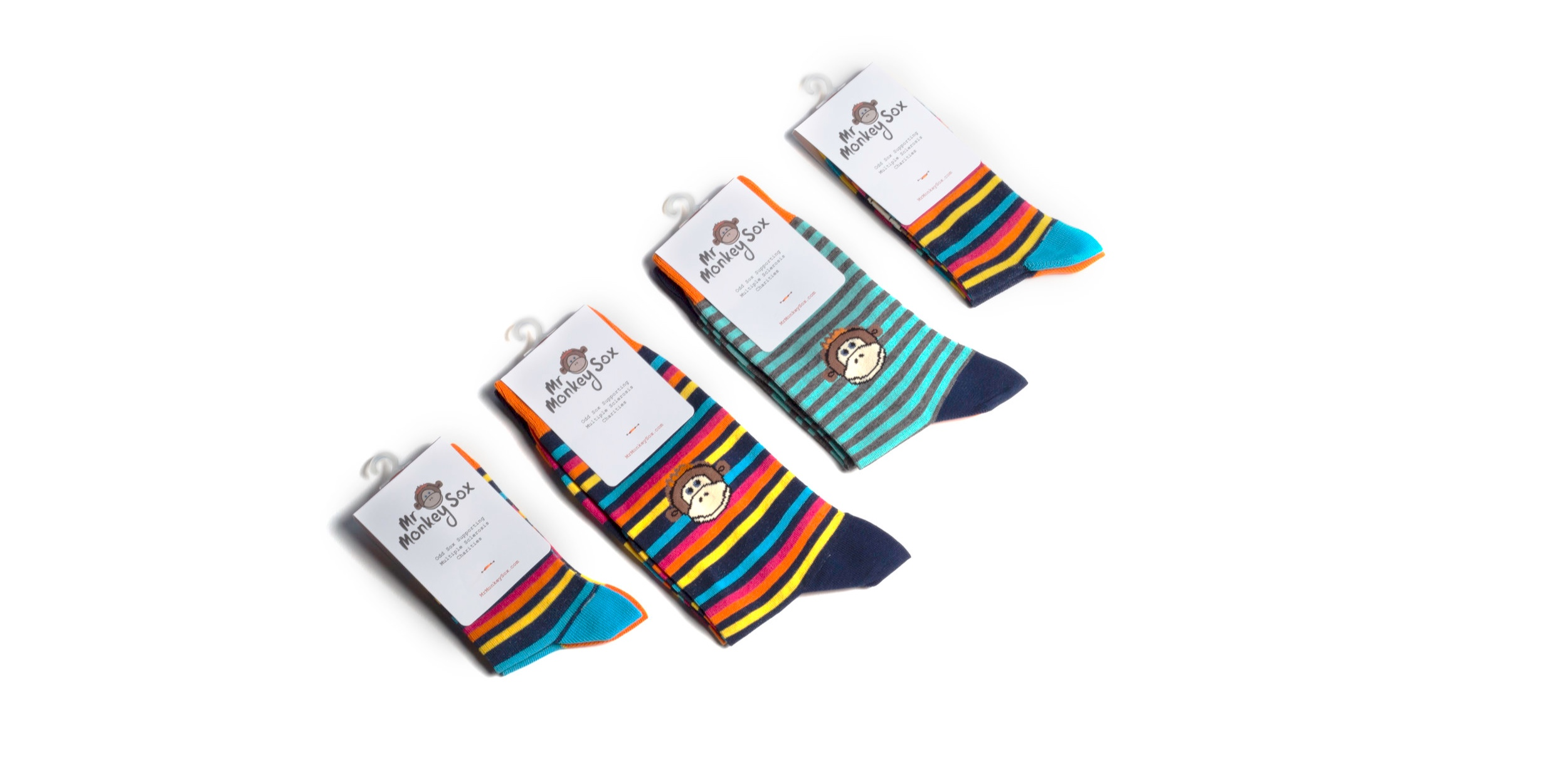NOT-FOR-PROFIT - Mr Monkey Sox is a Community Interest Company limited by guarantee. We donate 50% of net profits directly to our partner MS charities. The remaining profit is re-invested into new stock and new ideas to donate even more money.