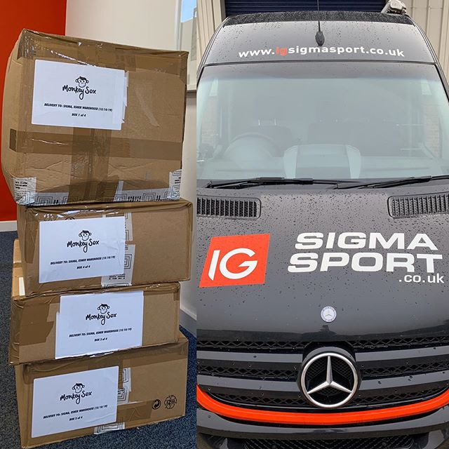 This time a year ago we delivered @sigmasports our very first autumn/winter collection! 1 year on, we're at it again 😃! It's bigger and better!! 🎉  On top of that we've met some amazing people, who have helped us loads along the way and we've loved every step! Thank you everyone at Sigma 👏 😃!! #builtbytheride #sockittoms #ms