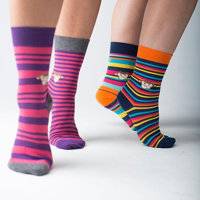 Get on your tip toes.... so many 🐵🧦 !! New leisure socks online too 😃!! Sell outs are back + new colours! #sockittoms #leisure #charity