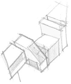 Forresters Beach Concrete House Concept Massing Sketch