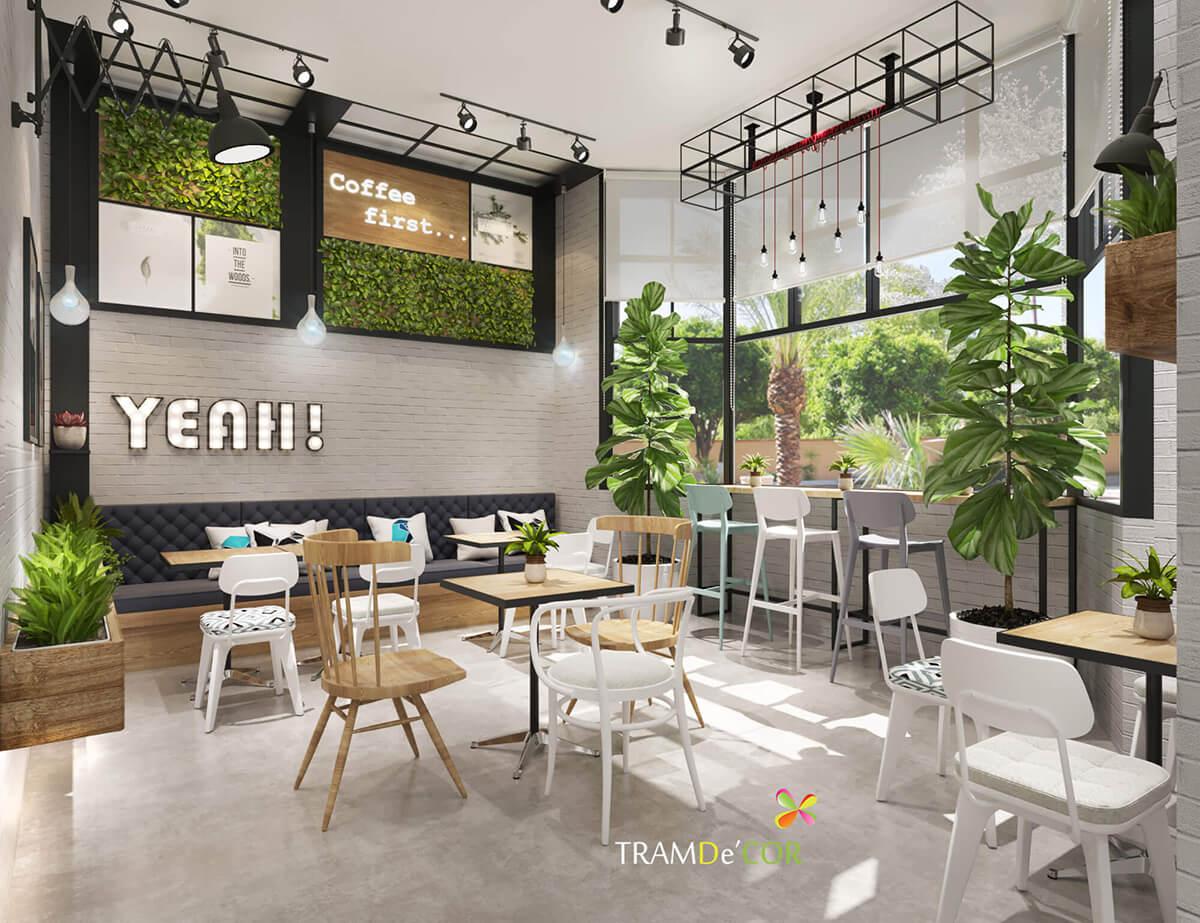 Thiết kế nội thất cafe sân vườn 200m2