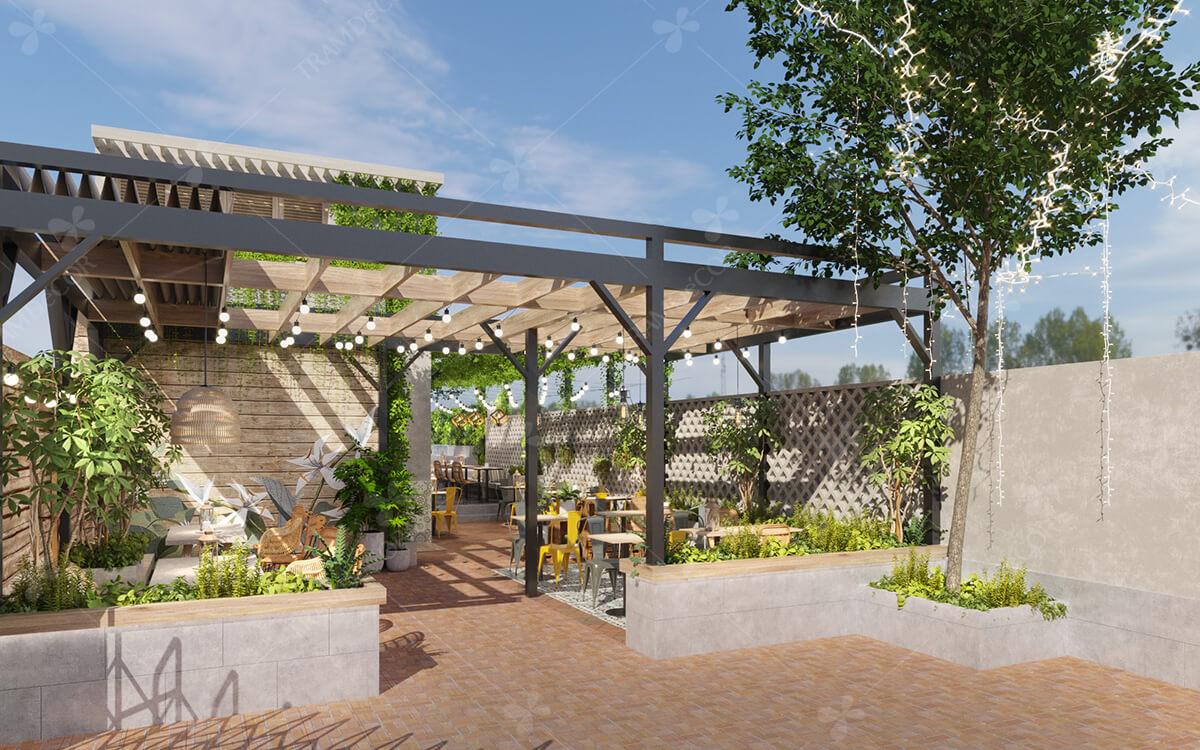 Fresh Cafe - Thiết kế quán cafe sân vườn 350m2 ấn tượng
