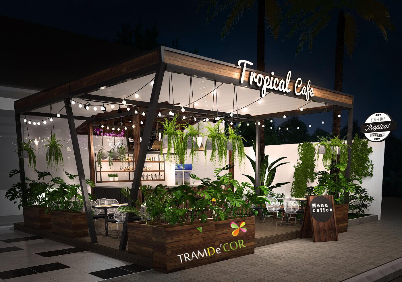Cafe Thảo Điền - Thiết kế quán cafe sân vườn nhỏ tại HCM
