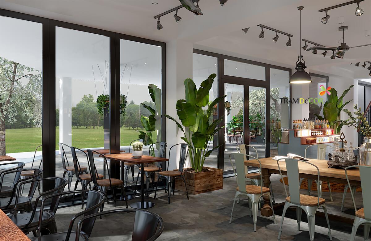 Thiết kế quán cafe phong cách công nghiệp ấn tượng