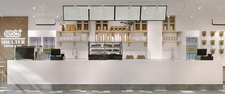 Cuốn Selter - Thiết kế cafe hiện đại tại hcm