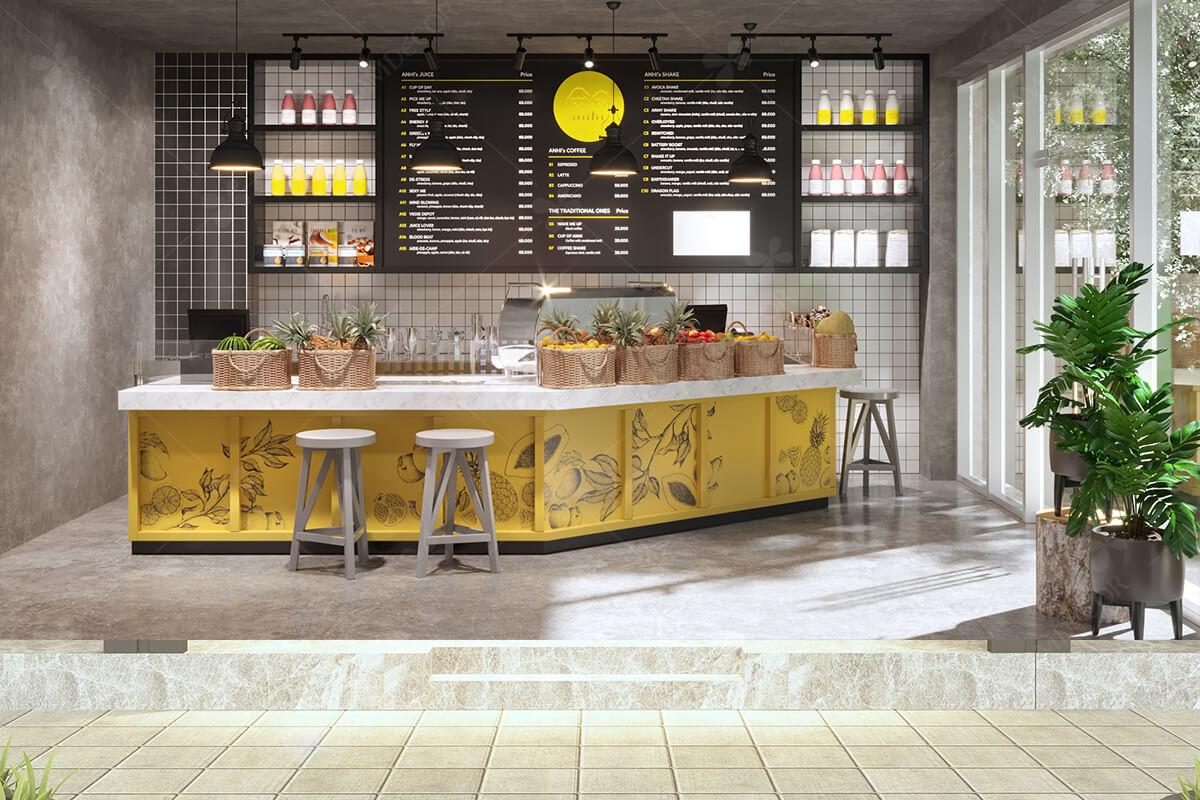 Anhi Coffee - Thiết kế nội thất quán cafe tại hcm