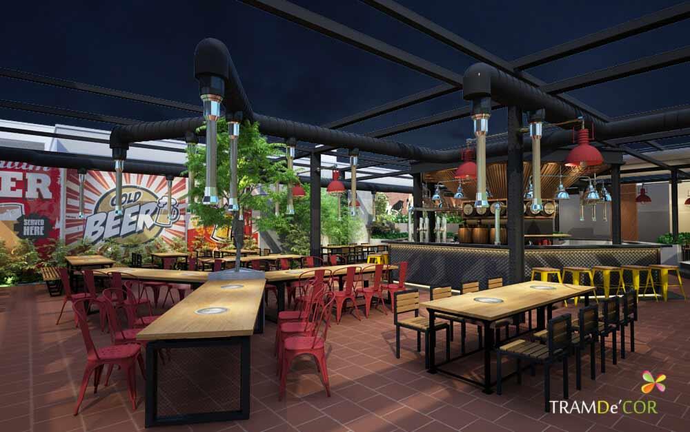 Nhà hàng sân vườn dê nướng