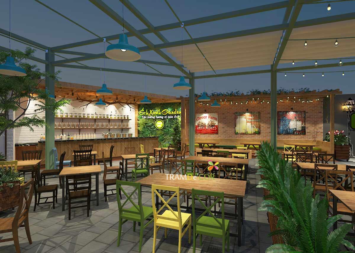 Nhà hàng sân vườn ếch xanh