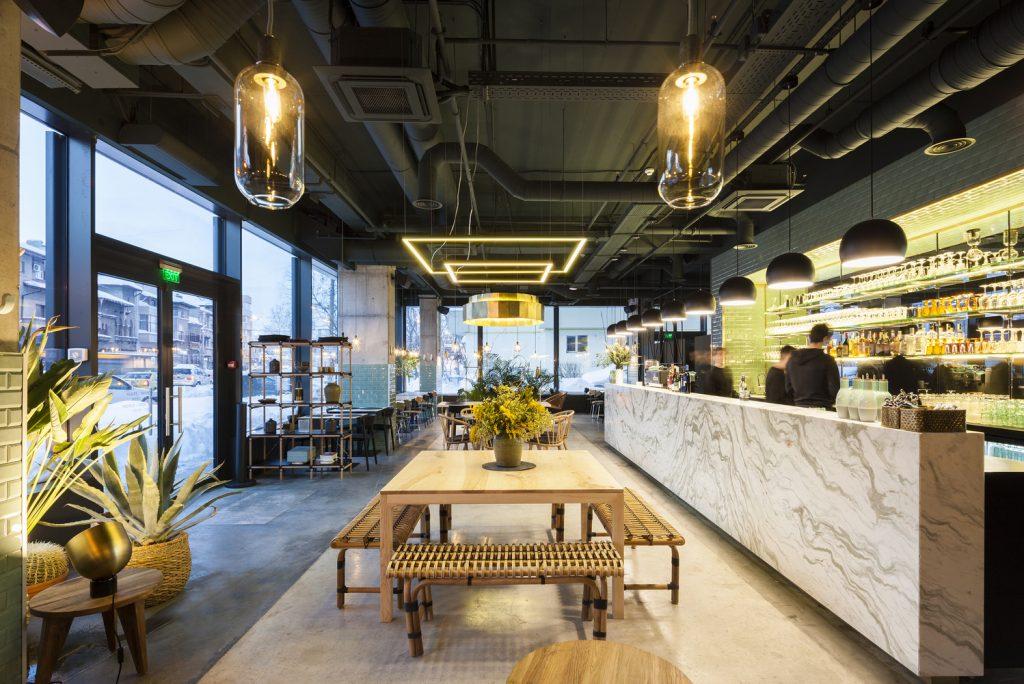 Nội thất nhà hàng phong cách nhiệt đới