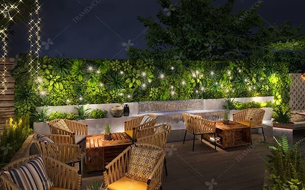 THIẾT KẾ nội thất QUÁN cafe SÂN VƯỜN - Với ưu thế là diện tích lớn, những quán cafe sân vườn tràn ngập sắc xanh của hoa lá, cây cỏ mang đến sự thư giãn, thoải mái. Cùng lối thiết kế hòa nhã, ấn tượng và tỉ mỉ của Tramdecor chắc chắn quán cafe sân vườn của quý khách sẽ tạo được dấu ấn riêng trong lòng thực khách.. Hãy cùng Tramdecor điểm qua một số mẫu thiết kế quán cafe sân vườn đầy hấp dẫn sẽ khiến bạn thích thú.