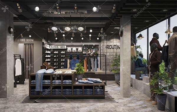 dự án cửa hàng thời trang - Không gian nội thất cửa hàng được đầu tư một cách chỉn chu, thiết kế chuyên nghiệp chắc chắn sẽ để lại nhiều ấn tượng với khách hàng đến mua sản phẩm và tăng năng xuất bán hàng hiệu quả, nâng tầm thương hiệu cho cửa hàng. Tramdecor là công ty chuyên thiết kế trang trí nội thất cửa hàng uy tín tại HCM. Chúng tôi đã, đang thực hiện nhiều dự án decor cửa hàng với phong cách đa dạng, sáng tạo. Đặc biệt cung cấp dịch vụ thiết kế thi công nội thất cửa hàng trọn gói, thiết kế trọn gói nội thất và bộ nhận diện thương hiệu chuyên nghiệp, tiết kiệm chi phí cho khách hàng.