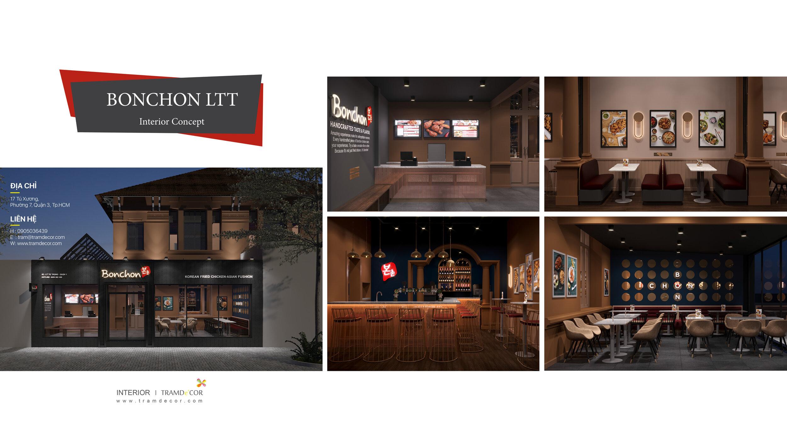 Concept thiết kế nhà hàng BonChon