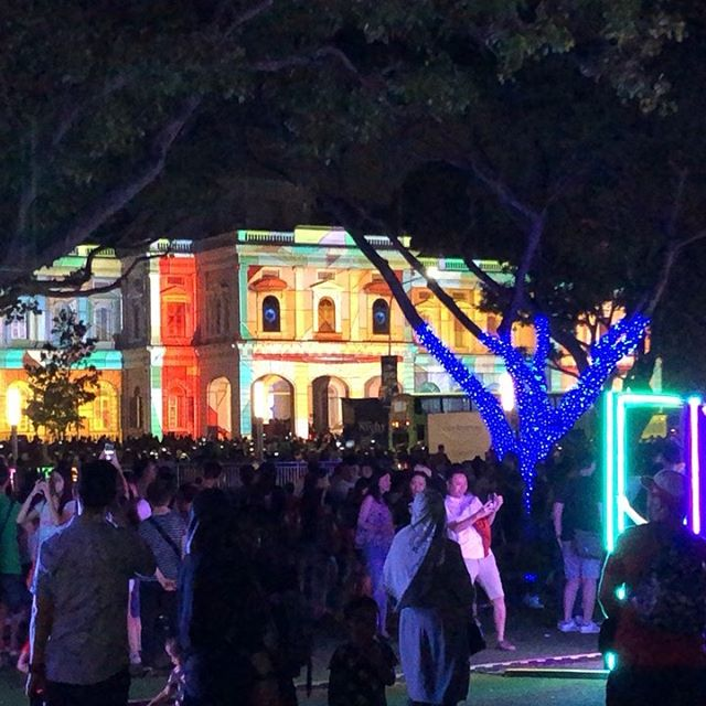 Singapore Night Festival turns the neighborhood into an illuminated party #sgnightfest #sgnightfest2019