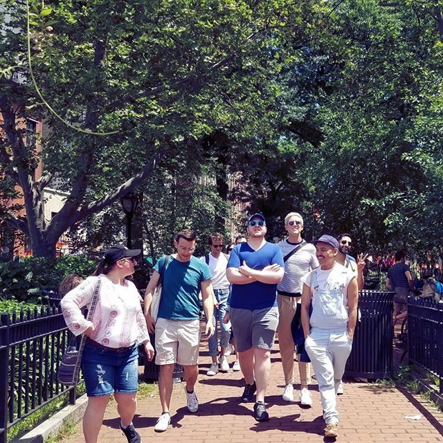 A lovely moment from our walking tour with @christopherstreettours last month. If you live in NYC or are visiting soon, be sure to sign up for a tour at christopherstreettours.com. Learn. Your. Queer. History. . . . . . . . #nyc #introvert #introverted #introvertlife #solitude #instaqueer #instagay #lgbtpride #lgbt #queercommunity #queerwomen #queeraf #queerpoc #soberqueer #queeret #queerlife #sobercurious #soberlife #sobercommunity #introverts #queerintroverts #queerpride #lgbtqpride #fridayfeeling