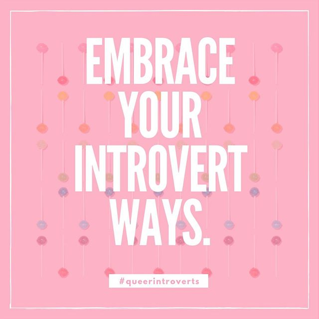Soooo many opinions out there call for introverts to sidestep, downplay, and circumvent our introvert ways. No. More. Of. That. Loving both our queer AND introvert identities is such a sweet place to be. . . . . . . . #nyc #introvert #introverted #introvertlife #instaqueer #instagay #lgbtpride #lgbt #queercommunity #queerwomen #queeraf #queerpoc #soberqueer #queeret #queerlife #sobercurious #soberlife #sobercommunity #introverts #queerintroverts #fridayfeeling