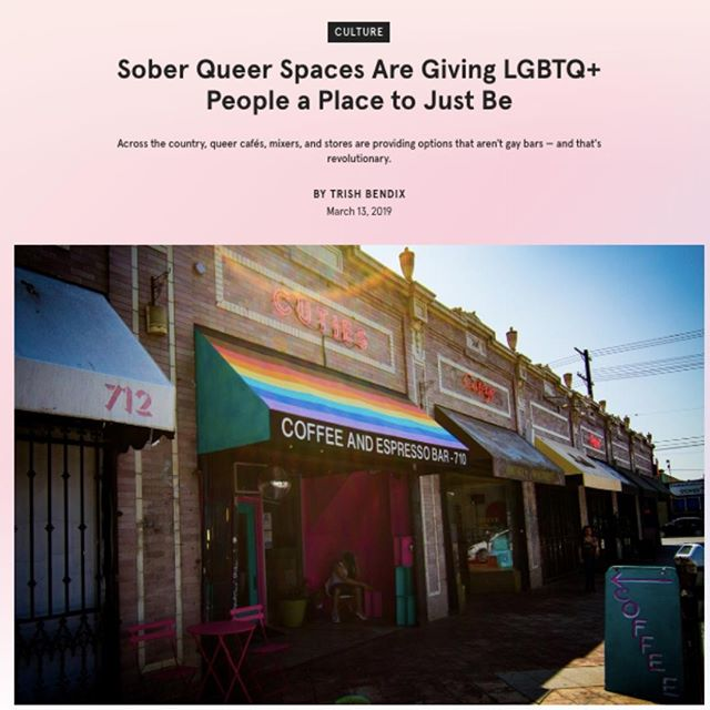 In case you missed it....@them wrote a fantastic piece about queer sober spaces that are popping up all over. . Click the LINK in our BIO to read the full story. Also, a big thank you to @trishbendix for bringing more visibility to these types of spaces across the country. . . . . . . #nyc #introvert #introverted #introvertlife #instaqueer #instagay #lgbtpride #lgbt #queercommunity #queeret #queerbrooklyn #queerwomen #queeraf #queerpoc #soberqueer #queeret #queerlife #soberlife #queernightlife #quietgays #quietandqueer #queerintroverts #them #soberspaces