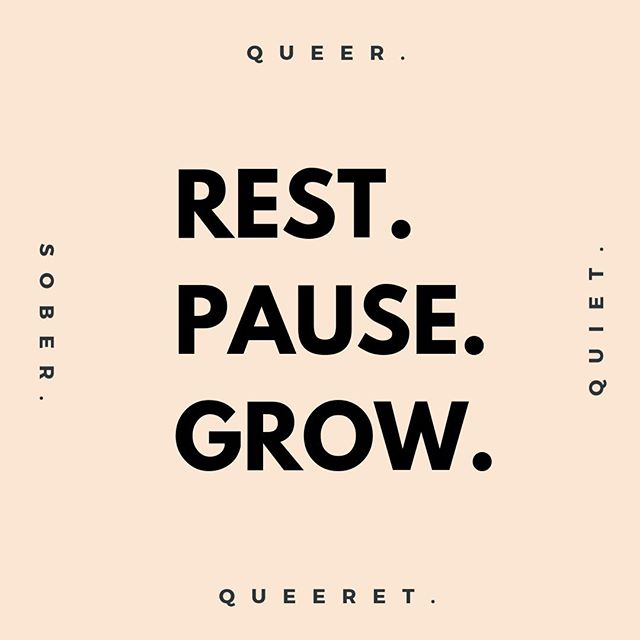 There are times in life when we as individuals have to rest, pause, renew, and step back, in order to move forward. We introverts know this well. . I'm going to take a pause from *some* aspects of queeret going forward. We'll be back on October 1st, with a new plan to grow queeret in a way that is strategic, focused, and true to our mission to create more queer, quiet, sober spaces. . Between now and then, we'll still be posting here on Instagram, Facebook, sending out our weekly newsletter, and surveying you - the community (e on the lookout for that). So no fear, we're not GONE gone. But I do need some time to rest and determine what the future of queeret looks like. . Thank you to EVERYONE who has sent an encouraging word over the last 10 months. And be sure to click the link in our bio to read more about what this *pause* will look like. As always...in quiet solidarity -- Josh Hersh . . . . . . . #brooklyn #nyc #introvert #introverted #introvertlife #solitude #instaqueer #instagay #lgbtpride #lgbt #queercommunity #queeret #queerbrooklyn #quiet #queerwomen #queeraf #queerpoc #soberqueer #queeret #queerlife #soberlife #sobercommunity #queernightlife #quietgays #quietandqueer #queerintroverts #queerintrovert