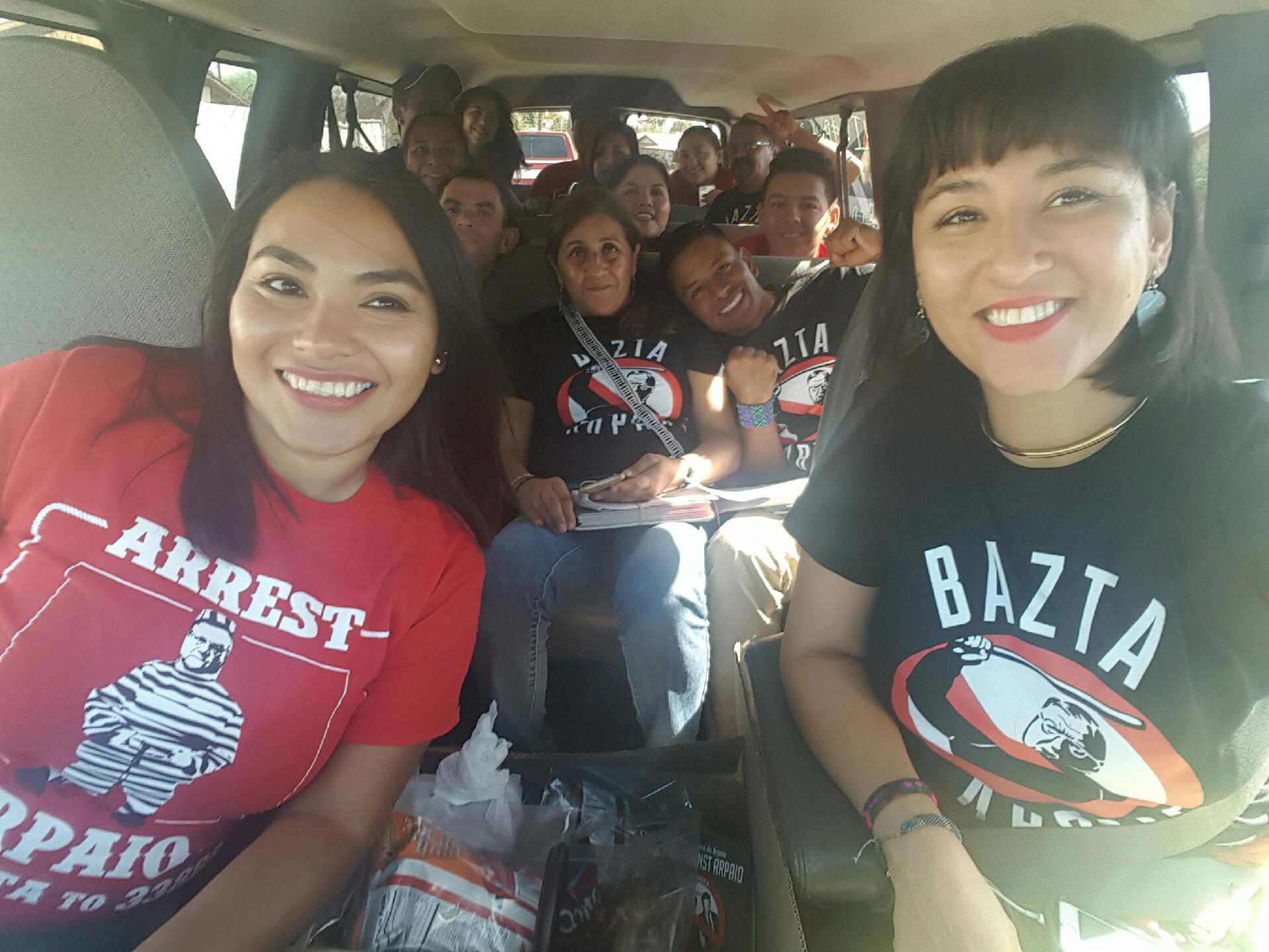 Ale with activists and fellow Mijente members from all over the country in AZ to remove Sherrif Joe Arpaio from office.
