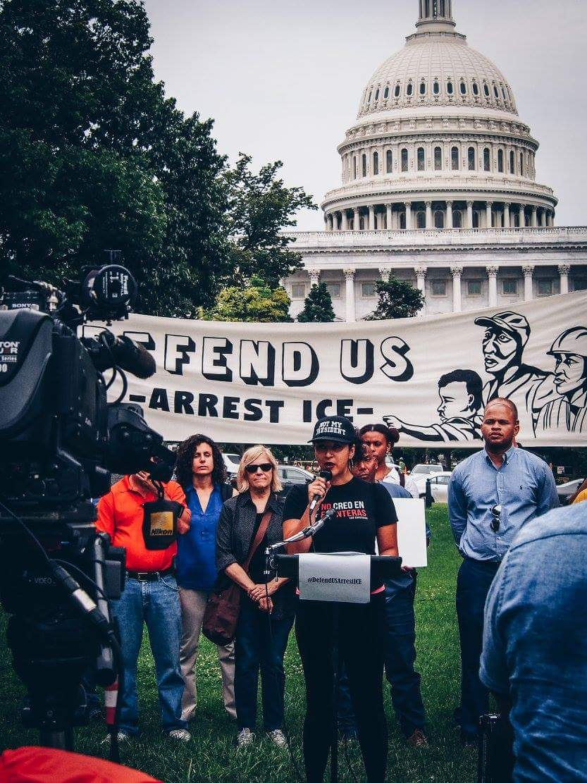 Ale joined Mijente and friends to denounce Attorney General Jeff Sessions, a key player in criminalizing and oppressing people of color and immigrants.