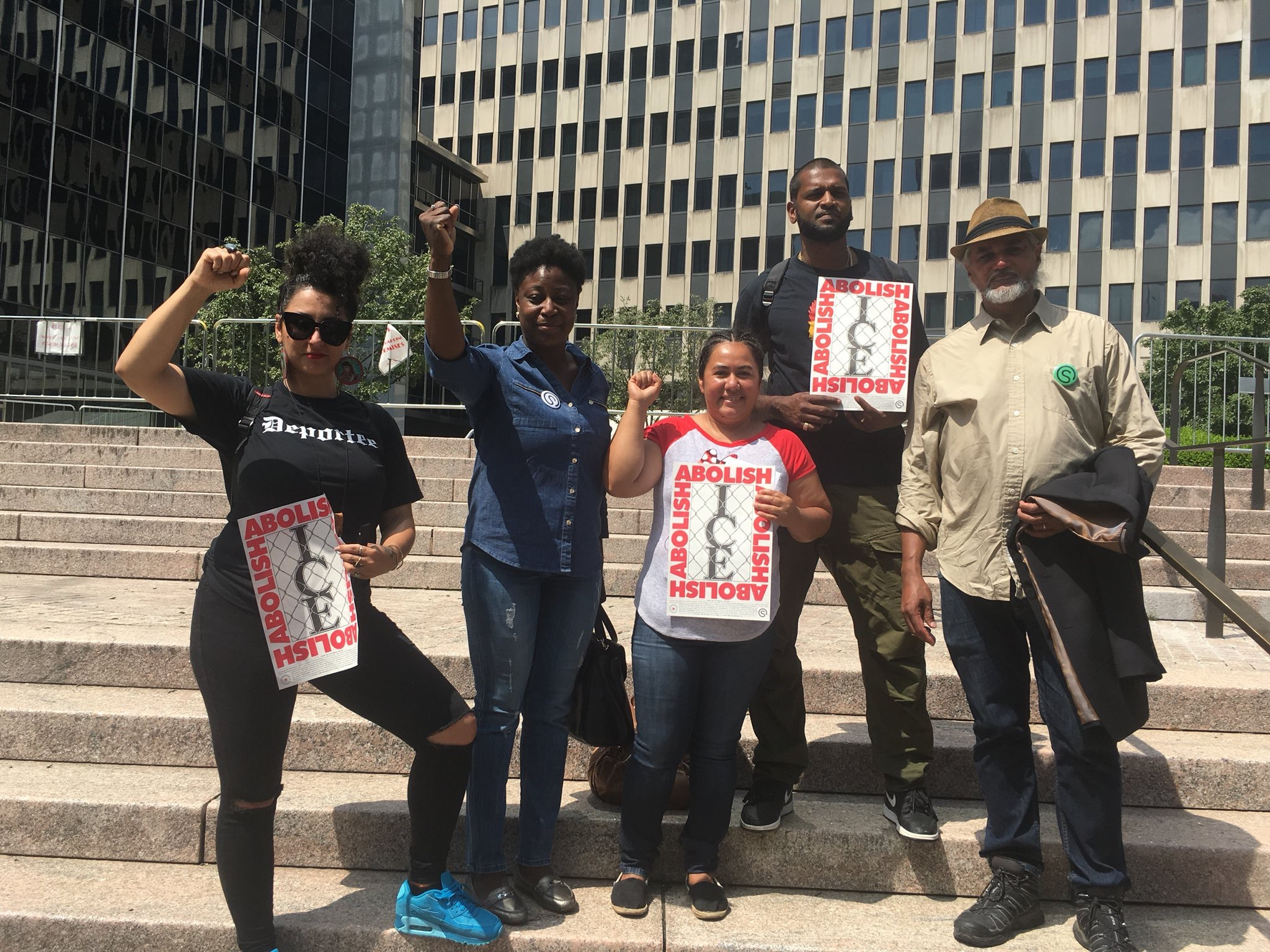 In solidarity with Ravi Ragbir and community members in NY. Ale is part of a 1st amendment lawsuit against the targeting of immigrant rights activists.
