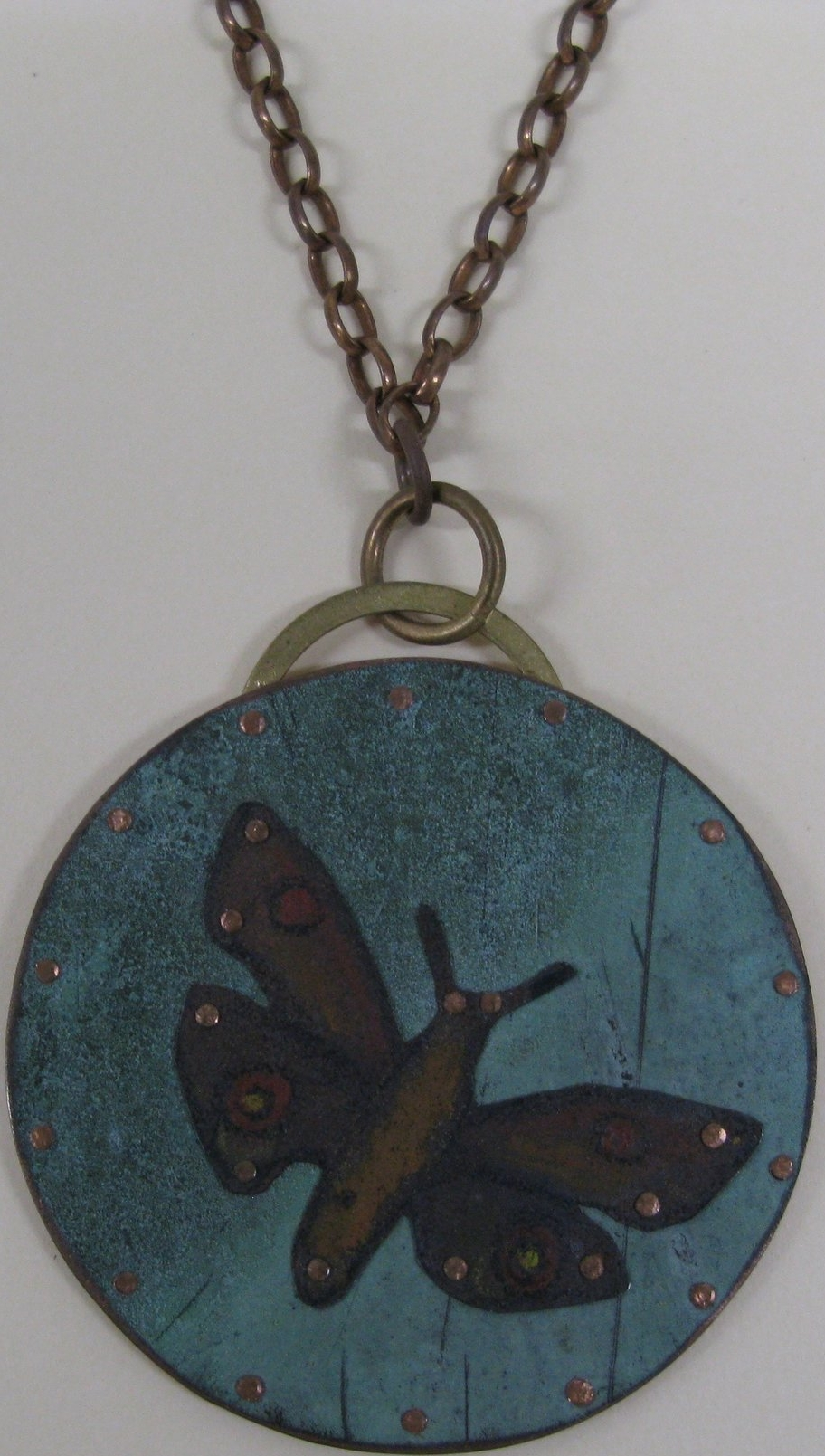 Brown Moth necklace