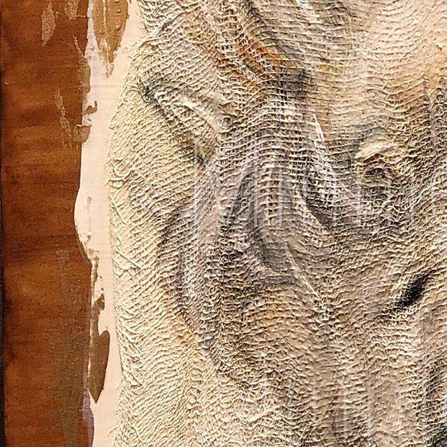 Wood + Gesso + Gauze = Canvas for my next piece. 🐴❤️ @minnieigneart #texturesart #art #artist #oilpainting