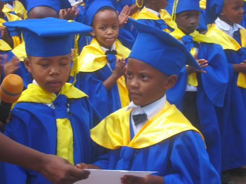 The speakers for Kindergarten Talia Ruremesha and Hope Bertha Isingizwe.