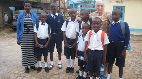 Egide, Claudine, John, David, Joyce, Soso and Diane. Super kids.