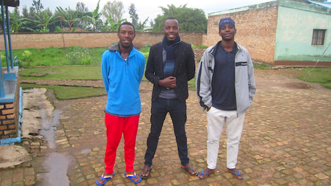 Richard (middle) flanked by Abias and Olivier.