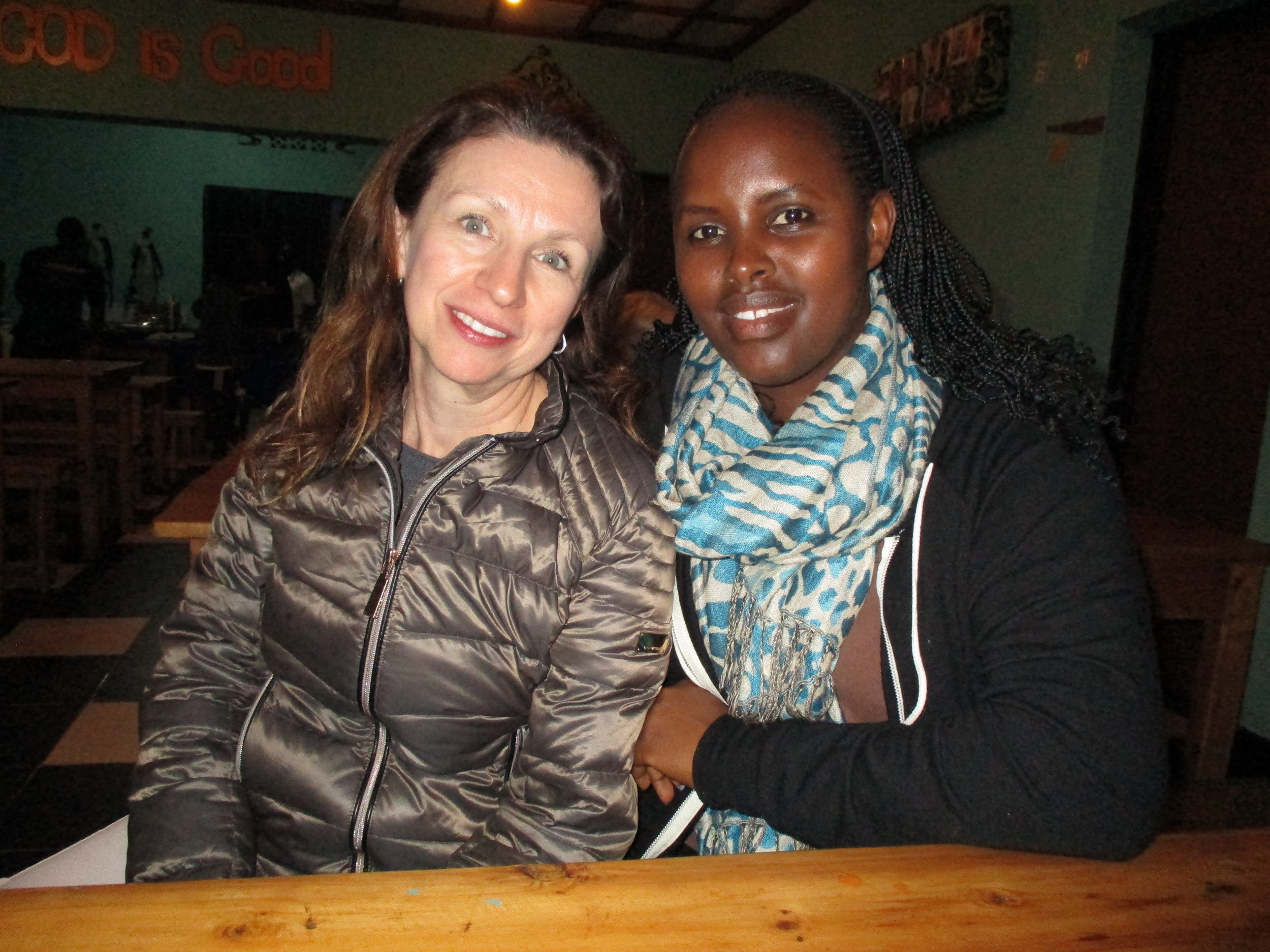 Global Engagement Institute Rwanda program manager Franciose Uzamukunda and Gabrielle formed a new friendship. Every friend is valued. Amazing women.