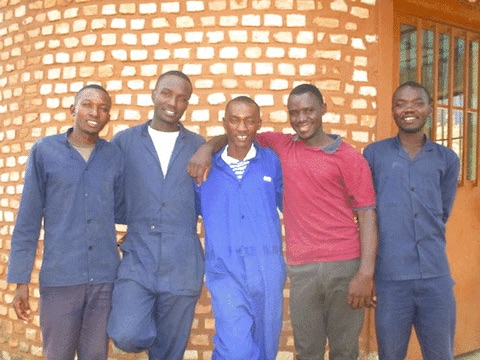 We have four cowboys and one intern: Pierre, Jean, intern Abais, Everist and Jovith.