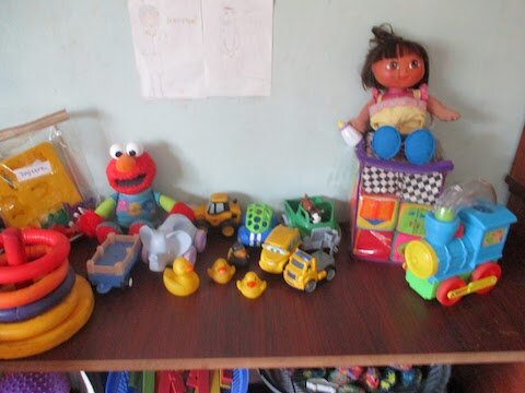 Here are some of our favorite toys. Elmo is tops and speaks.