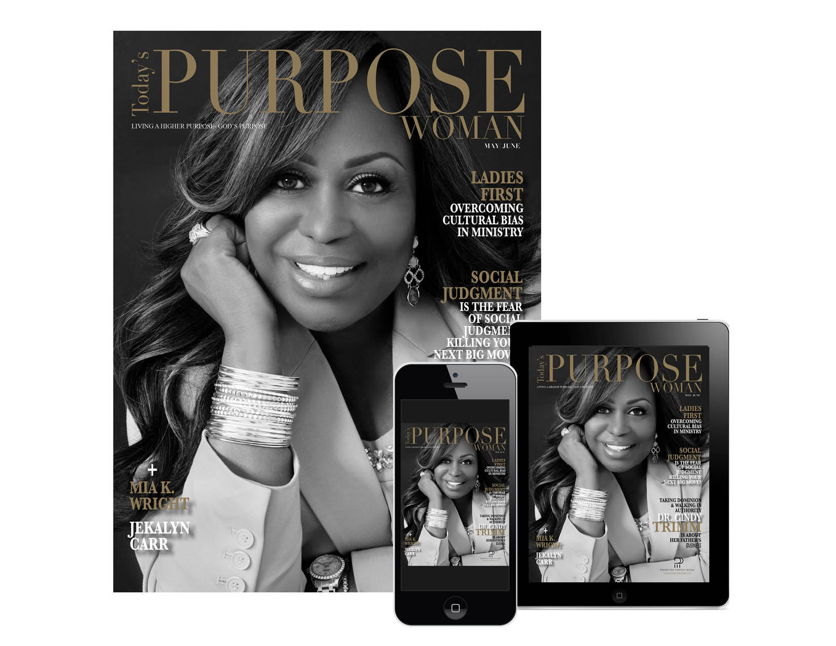 TODAY'S PURPOSE WOMAN - Today's Purpose Woman magazine is a bi-monthly publication that inspires, empowers and celebrates women who are purpose driven. We strive to engage and provide thought-provoking articles and strategies that will elevate the lives of readers spiritually, personally and professionally.Editor-in-Chief: Sherrell ValdezloquiOrder your copy today!