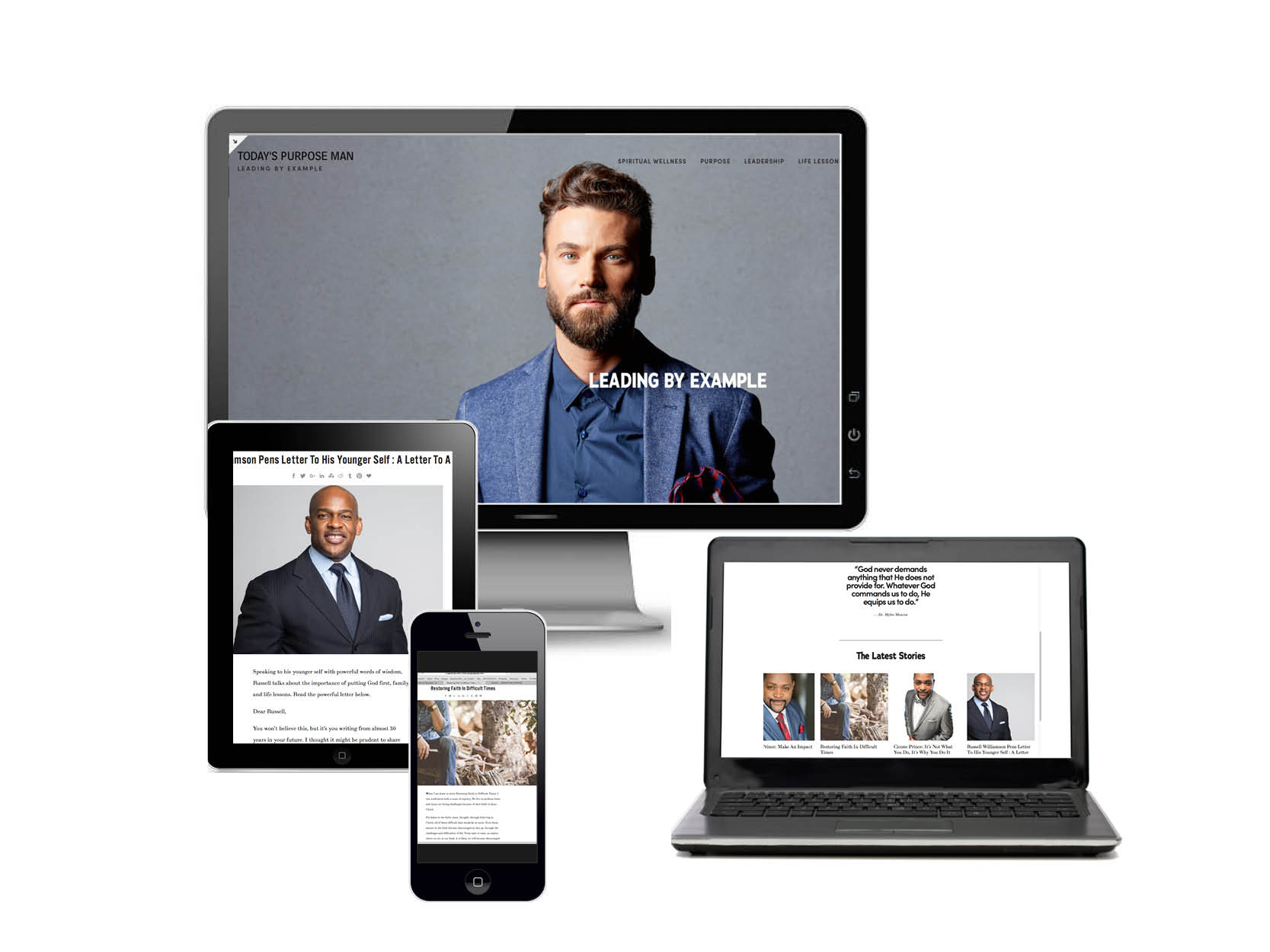 TODAY'S PURPOSE MAN - Leading by Example- Todayspurposeman.com is a men's guide to living and leading God's way. The online publication speaks to the key areas of a Purpose-Driven man's life: his lifestyle, spiritual wellness and leadership role.Advertise >Write for TPM >Visit: Today's Purpose Man