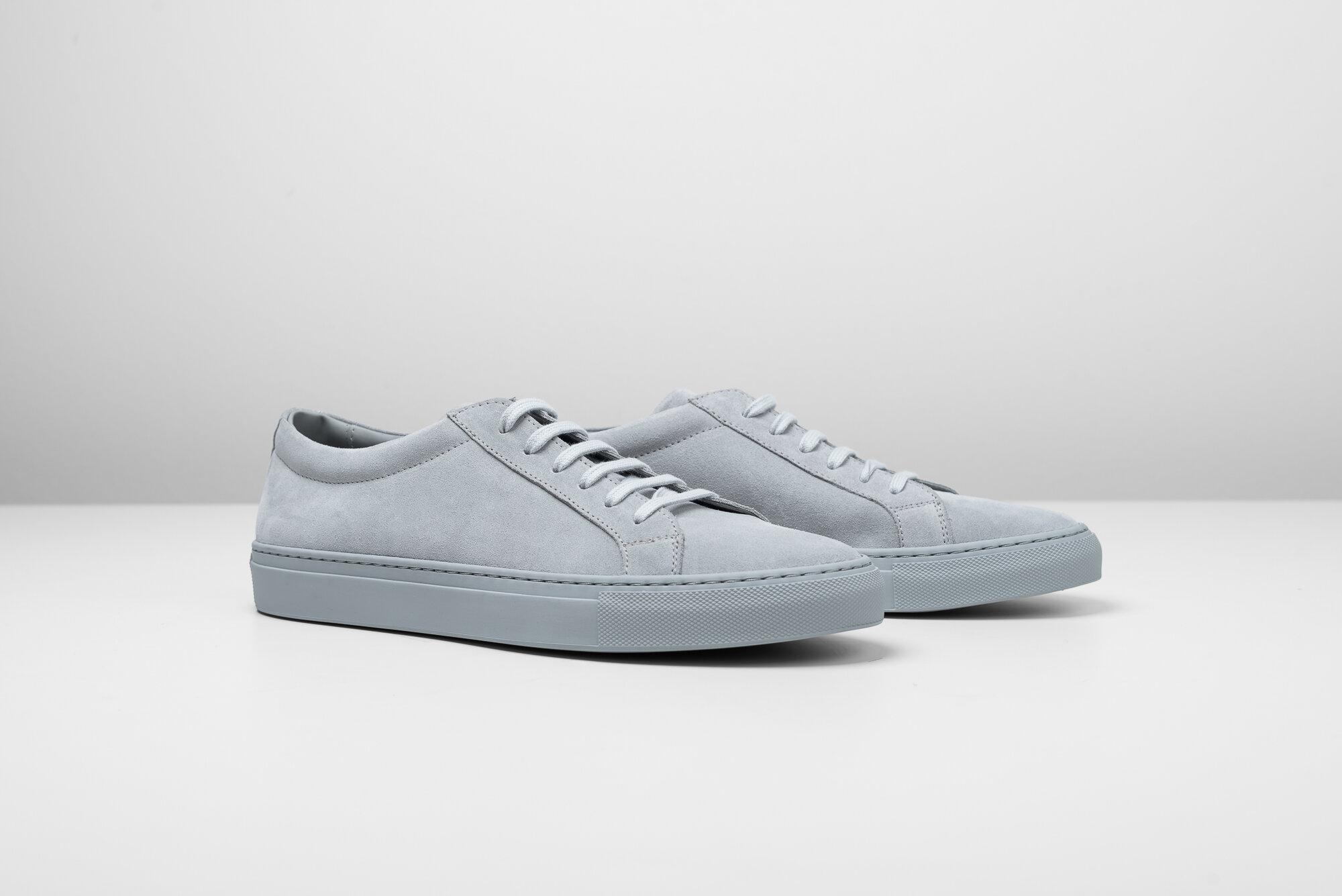 Essential Sneakers - Light Grey Suede