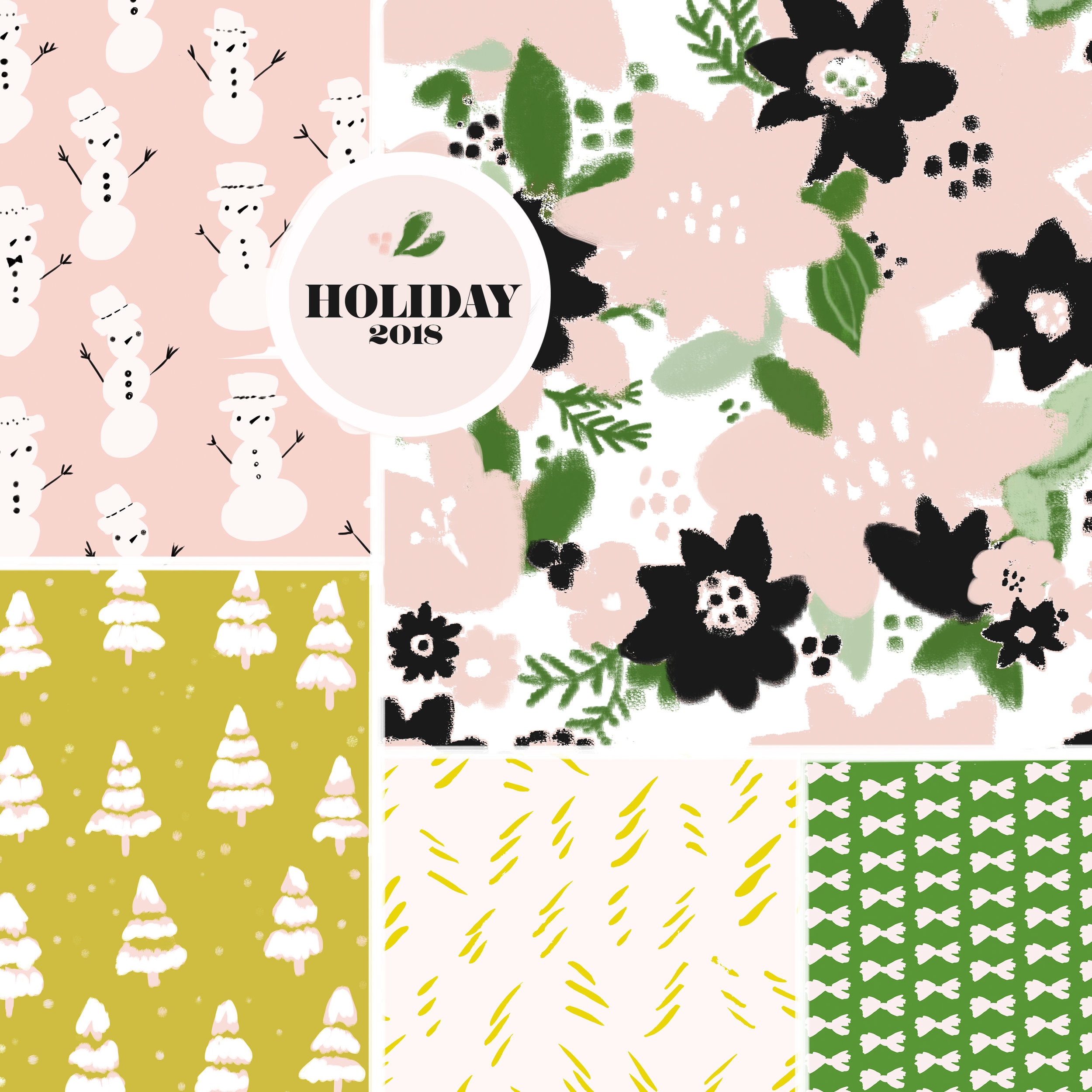 Holiday designs on  Spoonflower