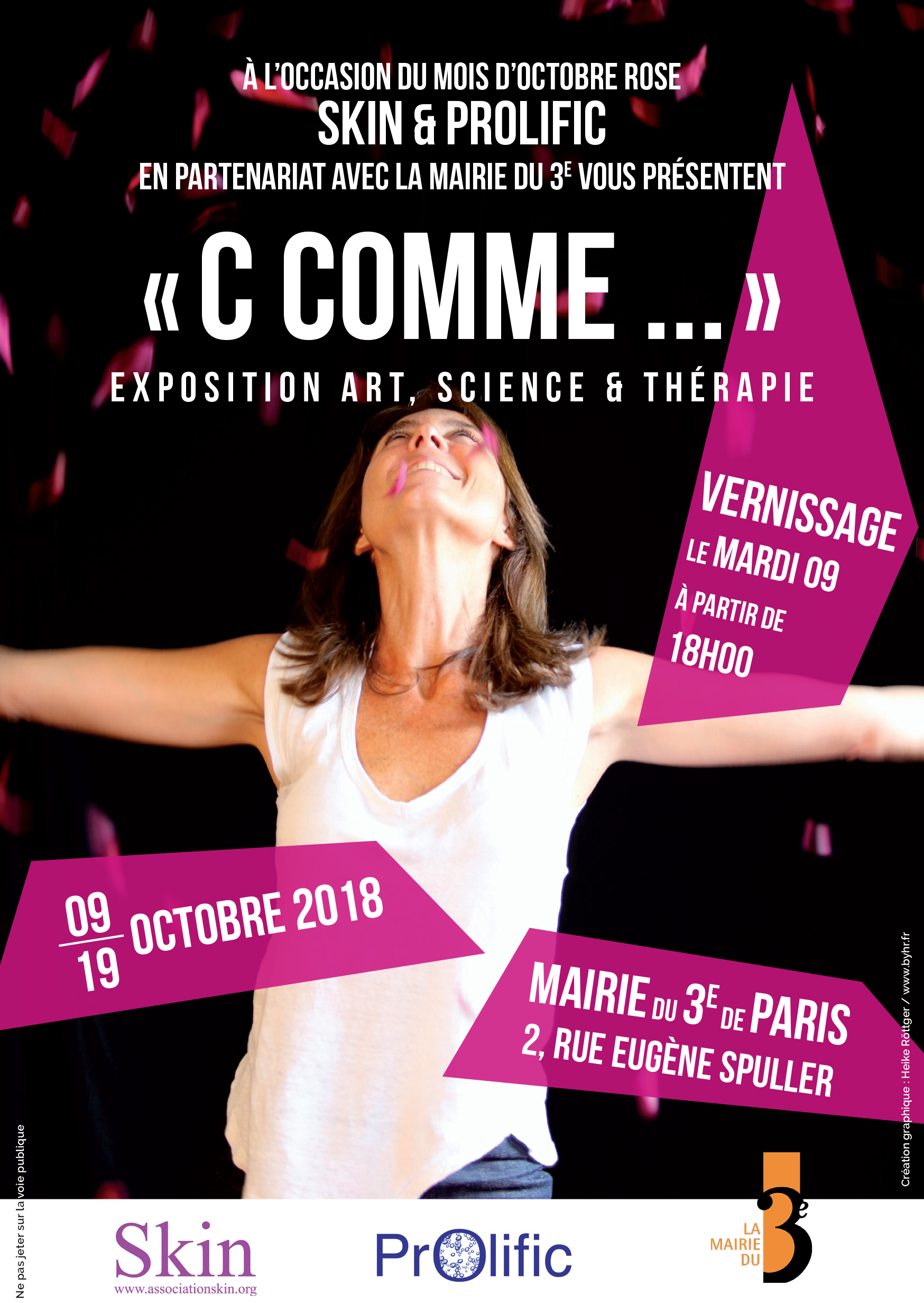 """La très belle exposition """"C, comme"""" a eu lieu en Octobre 2018, à la mairie du 3e arrondissement, en association avec SKIN. en voir   +"""